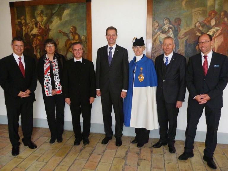 Die offizielle Luzerner Delegation im Kloster an der Landeswallfahrt 2015. | © 2015 Landeskirche