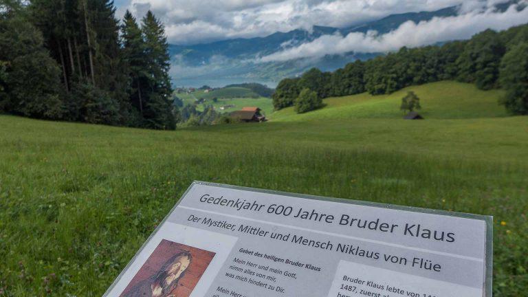 Der Bruder-Klausen-Weg bietet wujndervolle Aussichten. | © 2017 Dominik Thali
